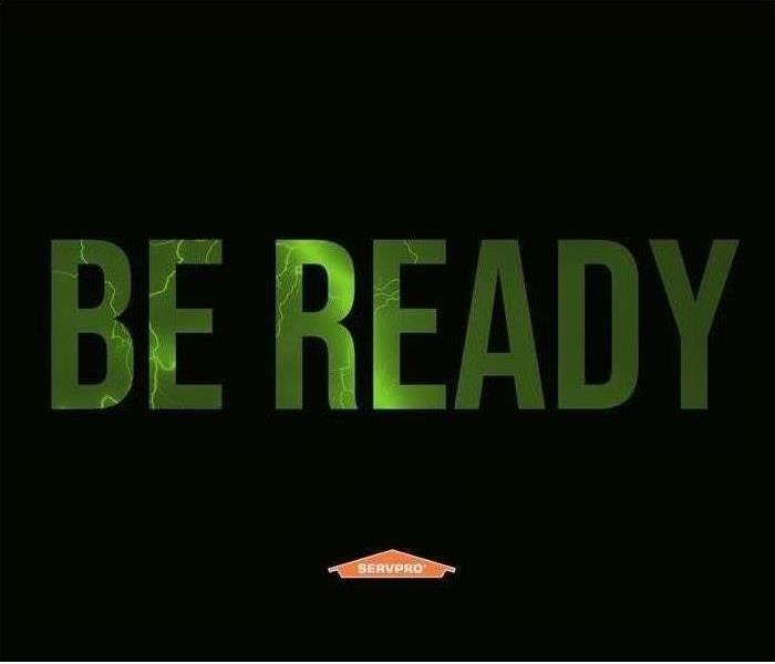 Be Ready in Green Black background